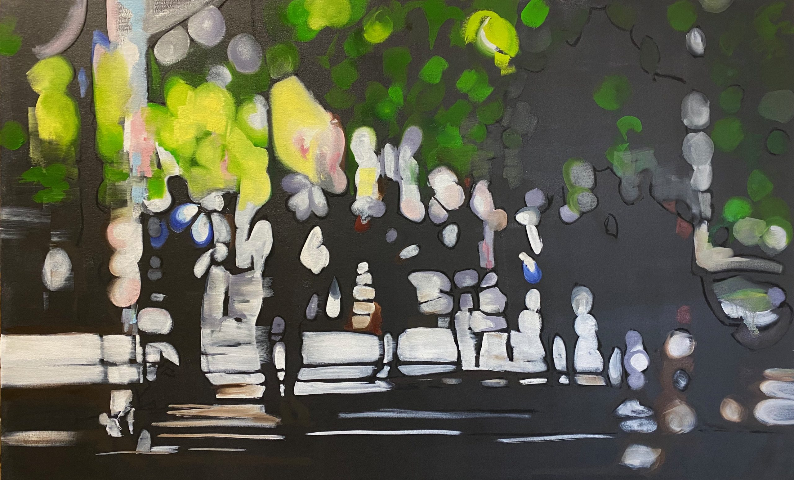 Days Out.. 70 x 113cm Oil on canvas.