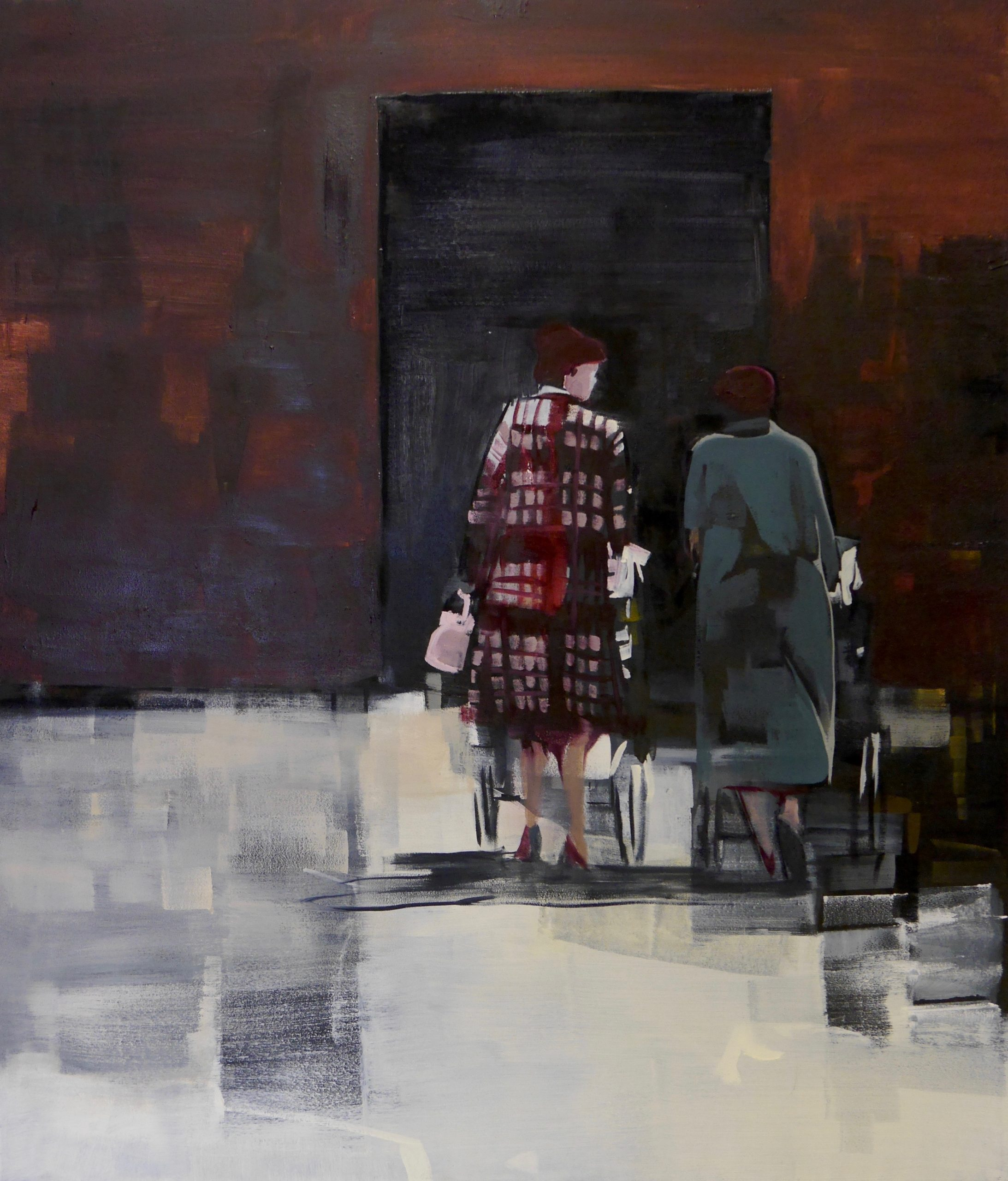Walking Out.  50 x 60cm oil on canvas